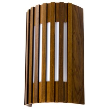 Slatted Curved Wall Light