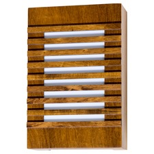 Slatted Rectangular Wall Light