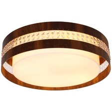 Round Crystal Inset Ceiling Light Fixture