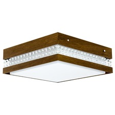 Square Crystal Inset Ceiling Light Fixture
