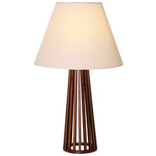 Tapered Base Slatted Table Lamp