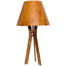 Line Tripod Table Lamp Flared Shade