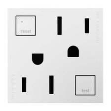 Tamper-Resistant GFCI Outlet with Matching Wall Plate