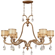 Roma Six Arm Linear Chandelier