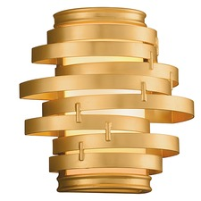 Vertigo Gold Leaf Wall Light