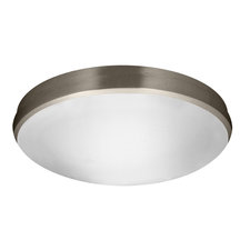 Satin Ceiling Mount W / Fluorescent Emergency Lamp