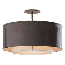Exos Medium Double Shade Semi Flush Ceiling Mount
