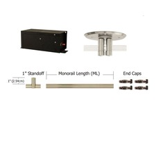 Monorail 12V Straight Kit 600W Remote Dual Feed Magnetic