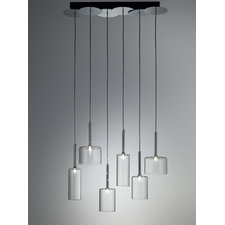 Spillray Six Light Linear Suspension