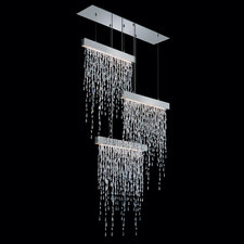 Crystalline Icicles Triple Pendant Suspension