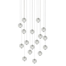 Bubble Ball 17 Light Linear Halogen Multi-Light Pendant