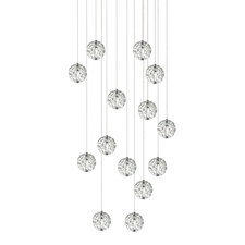 Bubble Ball 14 Light Halogen Linear Multi-Light Pendant
