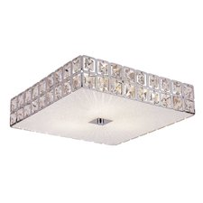 Sunburst Square Flush Mount Ceiling