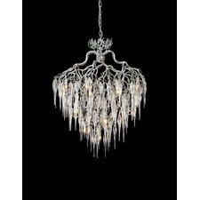 Hollywood Round Glass Chandelier