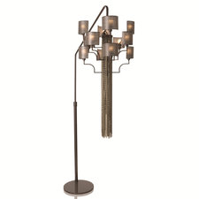 12 Light Hanging Floor Lamp