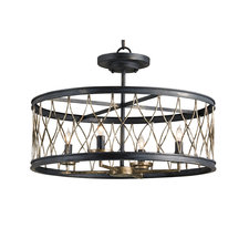 Crisscross Ceiling Light Fixture