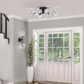 Gem Semi Flush Ceiling Light