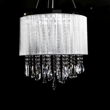 Beverly Drive Small Suspension by Avenue Lighting | HF1501-SLV