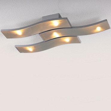 Onda LED Semi Flush Ceiling Lamp