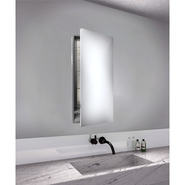 Simplicity Right Hinged Recessed Medicine Cabinet by Electric Mirror | SIM1940-RT-RM