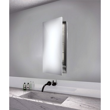 Simplicity Left Hinged Recessed Medicine Cabinet by Electric Mirror | SIM1940-LT-RM