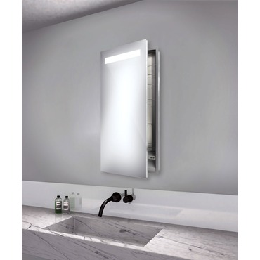 Luminous Left Recessed Medicine Cabinet by Electric Mirror | LUM1940-LT-RM