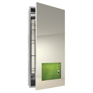 Seamless Right Surface Medicine Cabinet with TV by Electric Mirror | SEA1940-AV-RT-SM