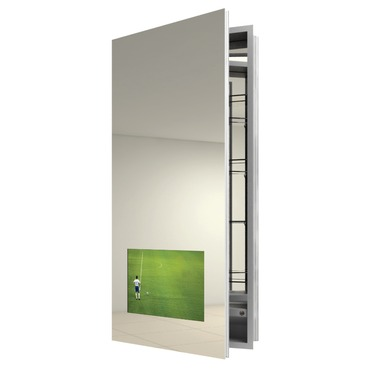 Seamless Left Surface Medicine Cabinet with TV by Electric Mirror | SEA1940-AV-LT-SM