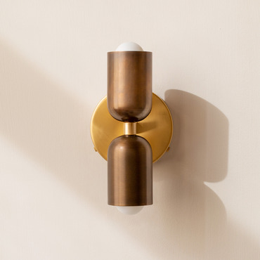 Brass Up Down Wall Sconce