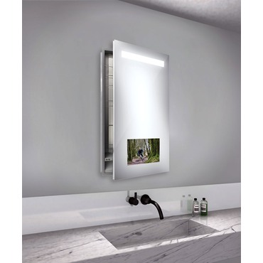 Re-Creation Right Recessed Medicine Cabinet by Electric Mirror | REC2340-AV-RT-RM