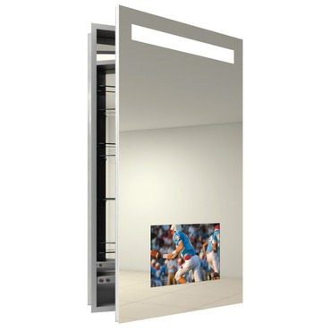 Re-Creation Right Surface Medicine Cabinet by Electric Mirror | REC2340-AV-RT-SM