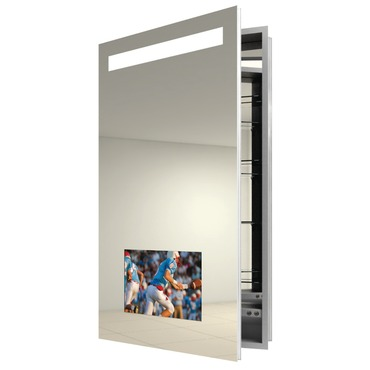 Re-Creation Left Surface Mount Medicine Cabinet by Electric Mirror | REC2340-AV-LT-SM
