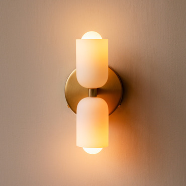 Glass Up Down Wall Sconce
