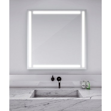 eFinity Square Lighted Mirror  by Electric Mirror | EFI4242