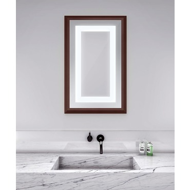 Momentum 26-inch Lighted Mirror by Electric Mirror | MOM2641-MU04