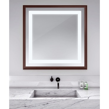 Momentum Square Lighted Mirror by Electric Mirror | MOM4747-MU04