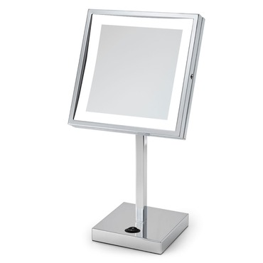 Elixir Wall-Mounted Makeup Mirror by Electric Mirror | EM88-SIL-CH