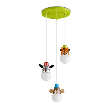 Kidsplace Zoo 3-Light Mini Pendant Lamp