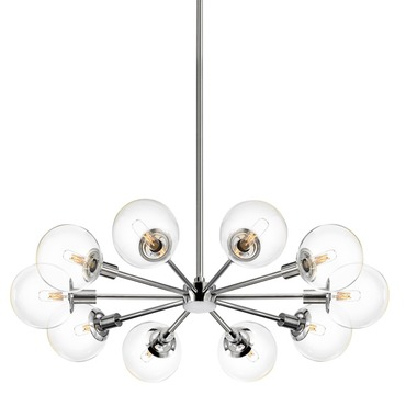 Orb 10-light Radial Pendant