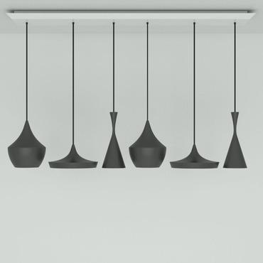 Beat Range LED Linear Multi Light Pendant