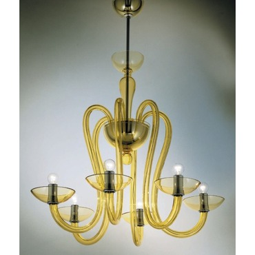 Medusa 6-light Suspension by Av Mazzega | 9001/06-AM