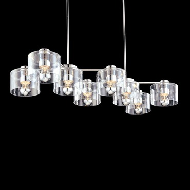 Transparence Rectangle Cluster Pendant by Sonneman A Way Of Light | 4808.01
