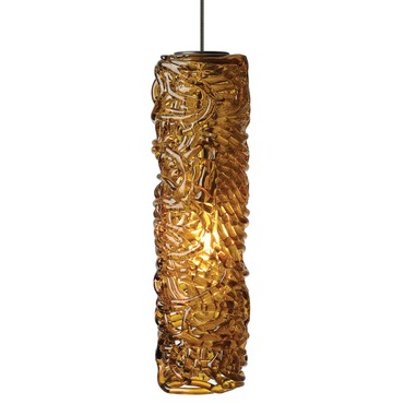Mini Isis Pendant by LBL Lighting | HS545AMBZ1BMPT