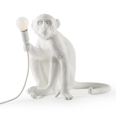 Monkey Sitting Outdoor Table Lamp
