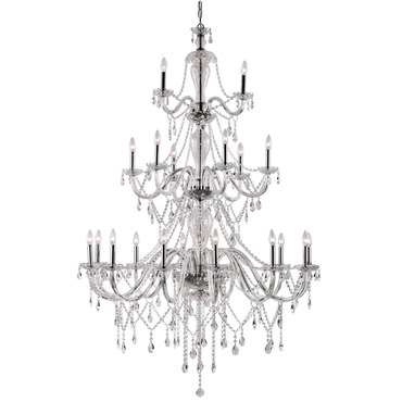 Crystal Fountain 3-Tier Chandelier