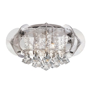 Flared Crystal Flush Mount Ceiling