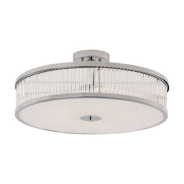 Crystal Sun Round Semi Flush Ceiling