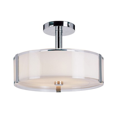 Opal Chrome Semi Flush Ceiling