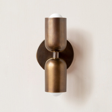 Brass Up Down Slim Wall Sconce