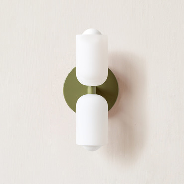 Glass Up Down Slim Wall Sconce